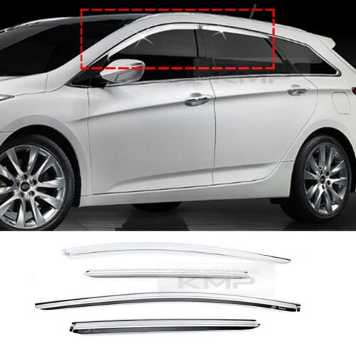 Chrome Window Visor Rain Sun Guards 4P K734 For HYUNDAI 2012-2017 i40 Wagon