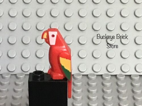 LEGO Pirate Islander Bird Parrot Red NEW+ White /& Green Marbled Pirate Yellow