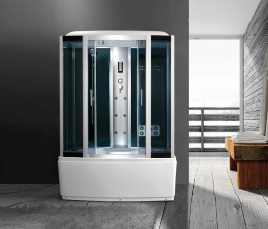 Cabina idromassaggio 150x85 box doccia con o senza vasca idro bagno turco  snz22