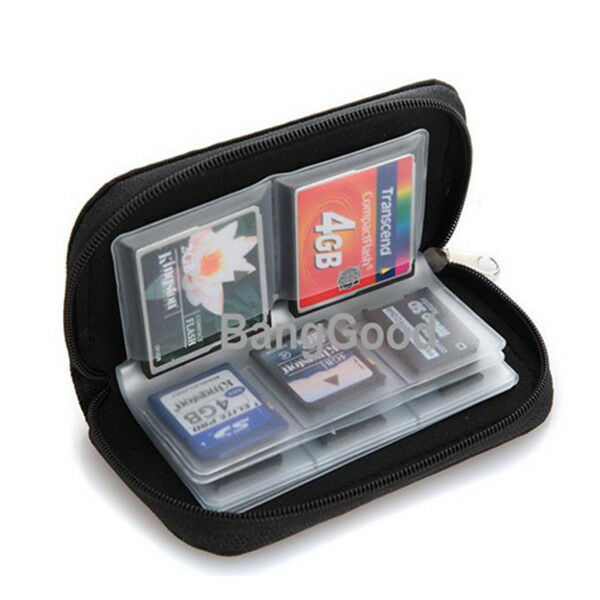 SD SDHC MMC CF Micro SD Memory Card Holder Storage Carrying Pouch Wallet Case