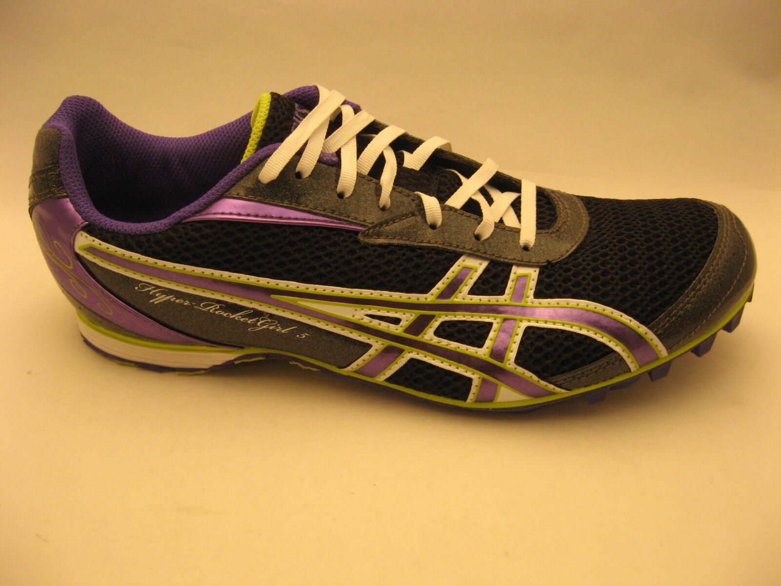 ASICS femmes Hyper Rocket Girl 5 Track & Field chaussures 10 Storm Violet Lime G154N