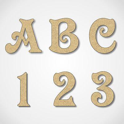 Fedele Mdf Lettere Numeri Decorazione In Legno Parole 3mm Spessore Mdf Alfabeto Vittoriano-mostra Il Titolo Originale