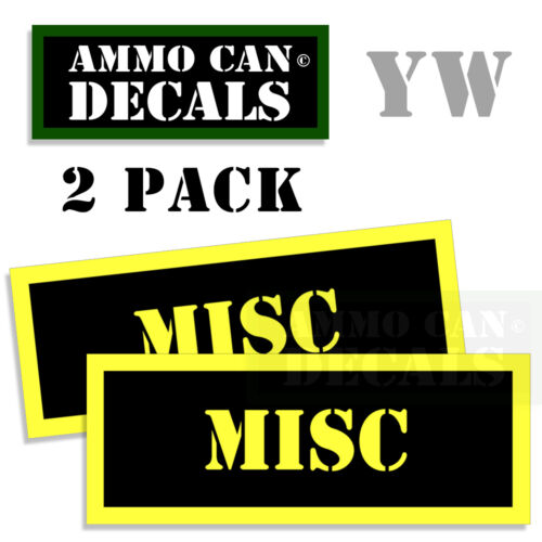 MISC Ammo Can Box Decal Sticker bullet ARMY Gun safety Hunting Labels 2 pack YW