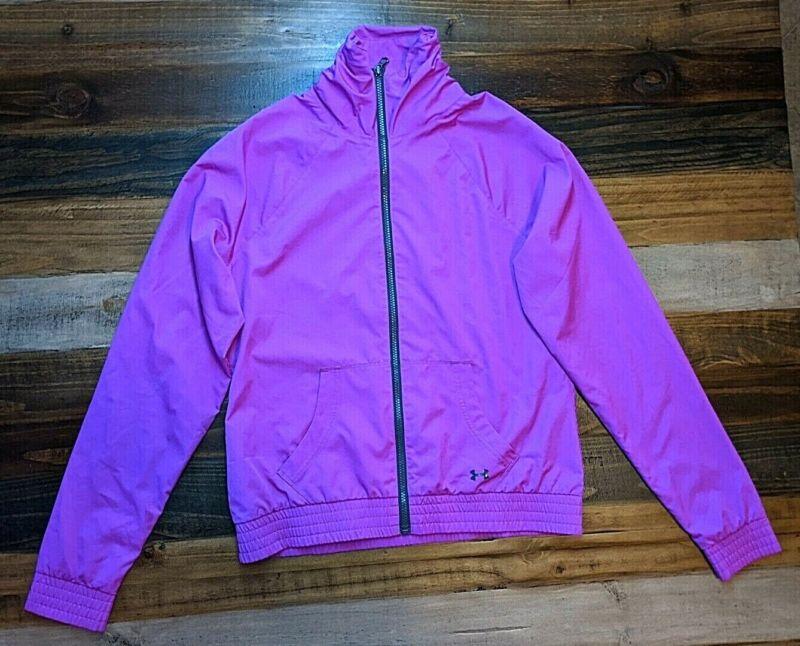Under Armour Women's Pink Full Zip Jacket Sz M Elegant In Style