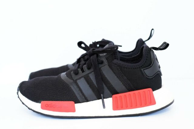 on sale 27638 6e572 Adidas Originals Men's Size 6 / Women's 7 NMD R1 Runner Black and Red BB1969