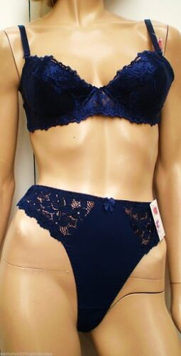 """/""""New In Vogue Complementary Bra set/""""Mix/&Match Navy 32to40 b/&c Underwired//Lined"""