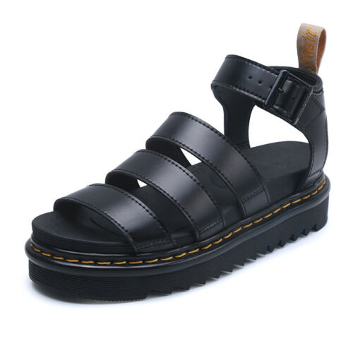 Martin Sandals Women Thick Bottom Women Sandals First Layer Leather Roman Shoes