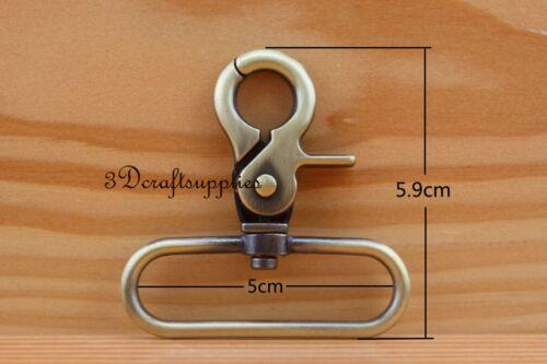 Lobster Clasps Clips Claw purse hooks Swivel snap hooks Anti bronze 50 mm K115