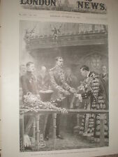 Alcalde de Londres espada de honor para Lord Kitchener 1898 antiguos impresión mi REF T