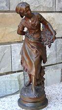 "ANTIQUE 19c ORIGINAL MATHURIN MOREAU(1822-1912,FRENCH) ""GRAP'PILLEUSE"" FEMALE BR"