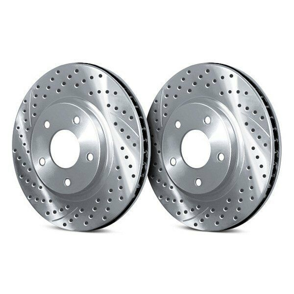 For Acura RL 05-12 Chrome Brakes Drilled & Slotted 1-Piece