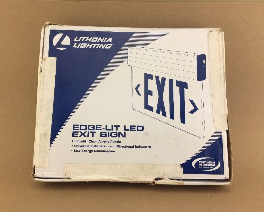New Acuity Brands Lithonia Lighting Exit Sign Edge Lit Exit Sign EDG 1 R M6