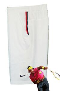 NEW NIKE Mens Dri Fit Stay Cool TENNIS SHORTS White Red   Navy Trim ... 360d901a3b4c