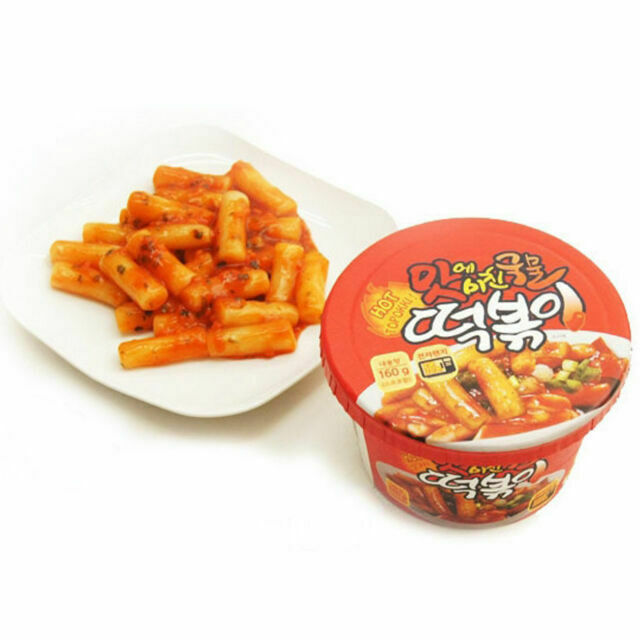 Korean Instant Spicy Hot Stir Fried Rice Cake Tteokbokki Min 30 Sec Cooking 160g For Sale Online Ebay