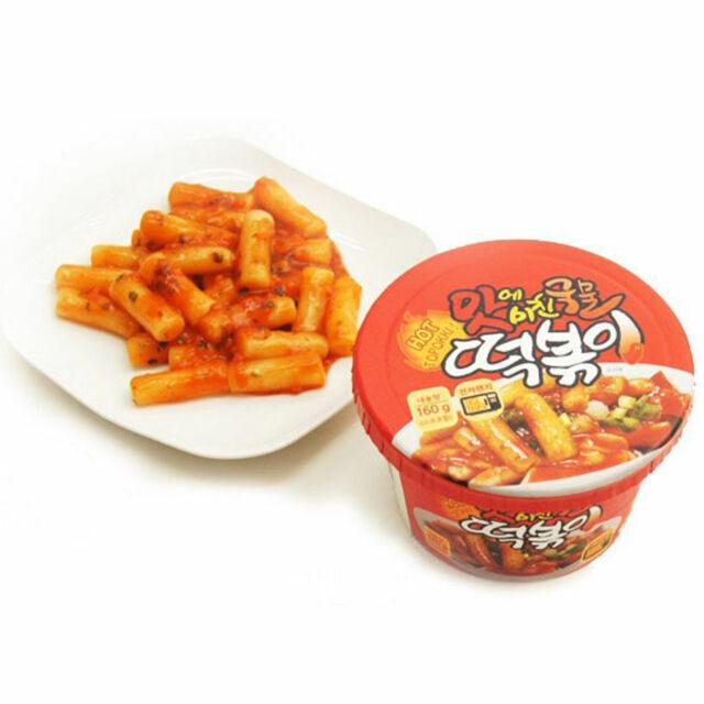 Korean Instant Spicy Hot Stir Fried Rice Cake Tteokbokki Min 30 Sec Cooking 160g For Sale Online Ebay