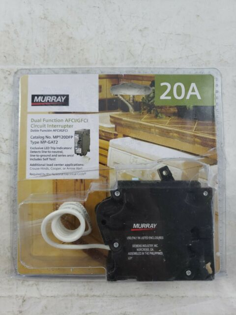Murray Mp120dfp 20 Amp Afci  Gfci Dual Function Circuit Breaker For Sale Online