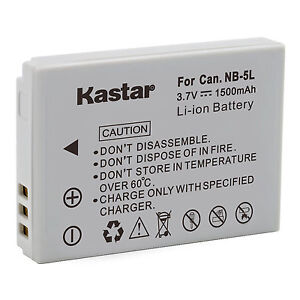 Kastar battery for canon nb 5l powershot s100 s110 sx200 sx210 image is loading kastar battery for canon nb 5l powershot s100 sciox Images