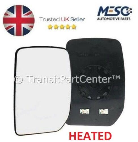HEATED FRONT DOOR MIRROR GLASS FORD TRANSIT MK6 MK7 2000-2014 LEFT HAND SIDE