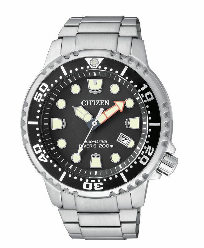 Reloj hombre Citizen Promaster Eco Drive BN0150-61E Acero-200 mts-Esfera negra