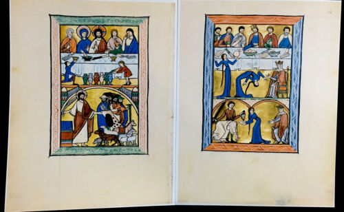 1200 AD GOLDEN MUNICH PSALTER Facsimile