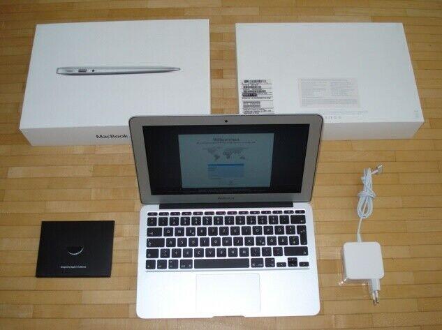 Apple MacBook Air A1465 11,6 Zoll 1,4GHz i5 128GB SSD Anfang 2014 NEUWERTIG +OVP