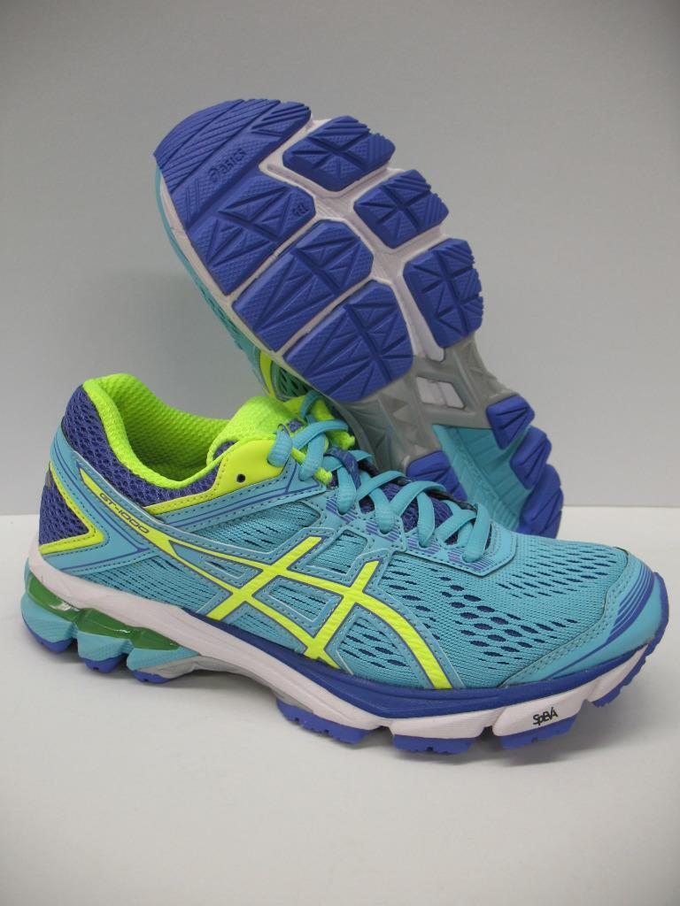 Asics T5A7N GT-1000 4 Running Training Shoes Sneakers Blue Yellow Girls Womens