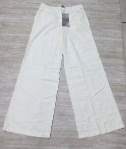 NEW-Da-Nang-Surplus-Women-039-s-Flare-Pants-EGGSHELL-CS21964-Size-2
