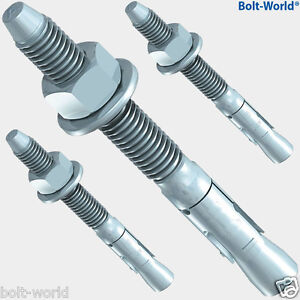 M8 x 130mm THROUGH ANCHOR WALL BOLTS RAWL BRICK MASONRY CONCRETE THROUGHBOLTS