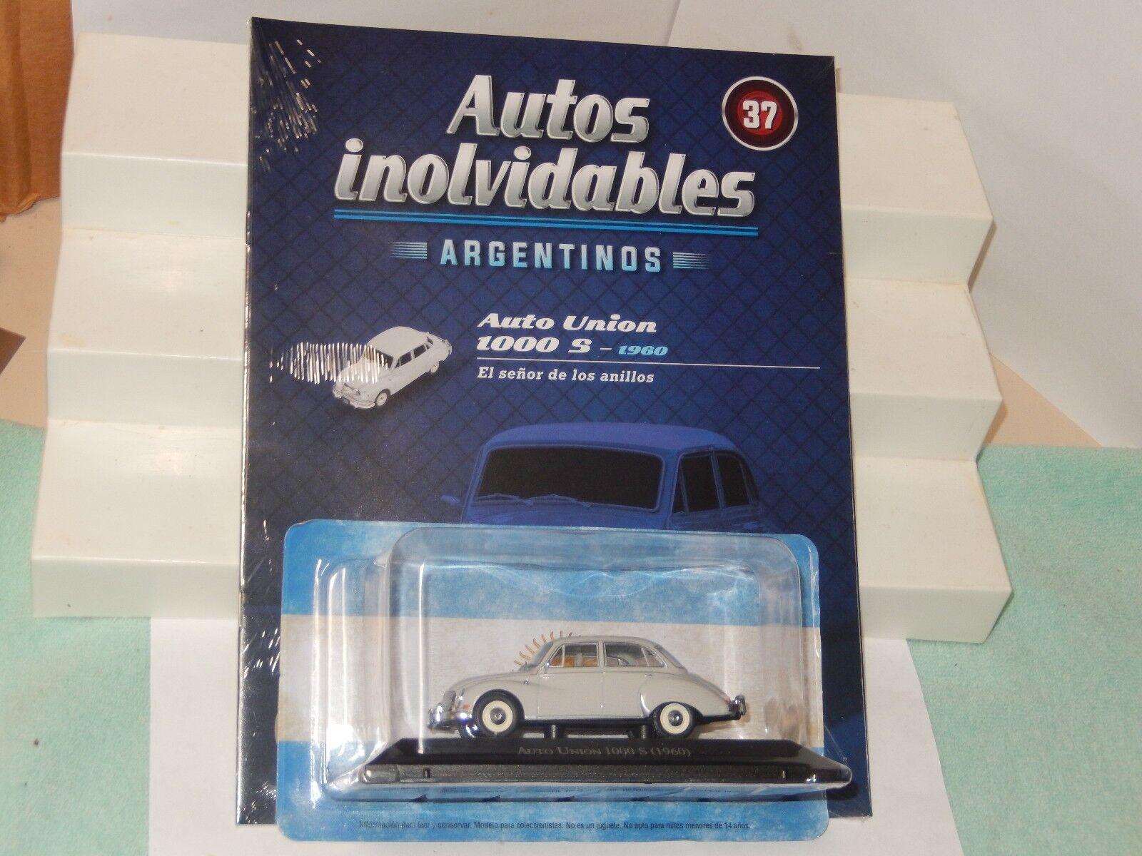 1960 der auto - union dkw 1000 druckguss auto Silberinien neue versiegelt 1   43 us - verkäufer