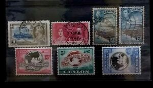 CEYLON  7  OLD USED STAMPS  G026   Free Shipping