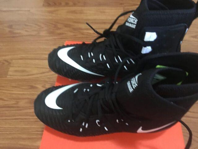 Nike Force Savage Elite TD Lineman Football Cleats Black White Oreo (857063-011)
