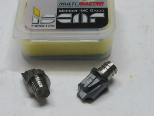 2 new ISCAR Multi-Master MM HR3.0//125-6.5-2T08 IC908 Carbide Replacement Tips