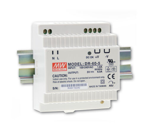 24 V DC 2,5 A 60 W hutschienen alimentation SNT-MeanWell DR 60-24