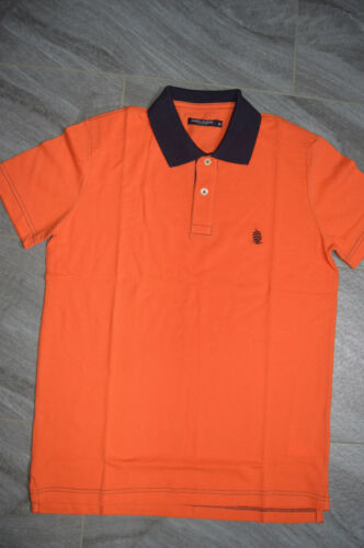 Authentic Marina Yachting Orange w// Black Contrast Collar Polo Shirt S-XL-XXL
