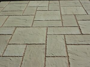 Marvelous Image Is Loading BUFF CONCRETE PATIO PAVING SLABS FLAGS YORKSTONE STYLE