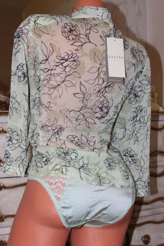 New Green Tie Top Exclusive Floral Mix Eastex Size Front Ladies Blouse Print 14 OR7tnU