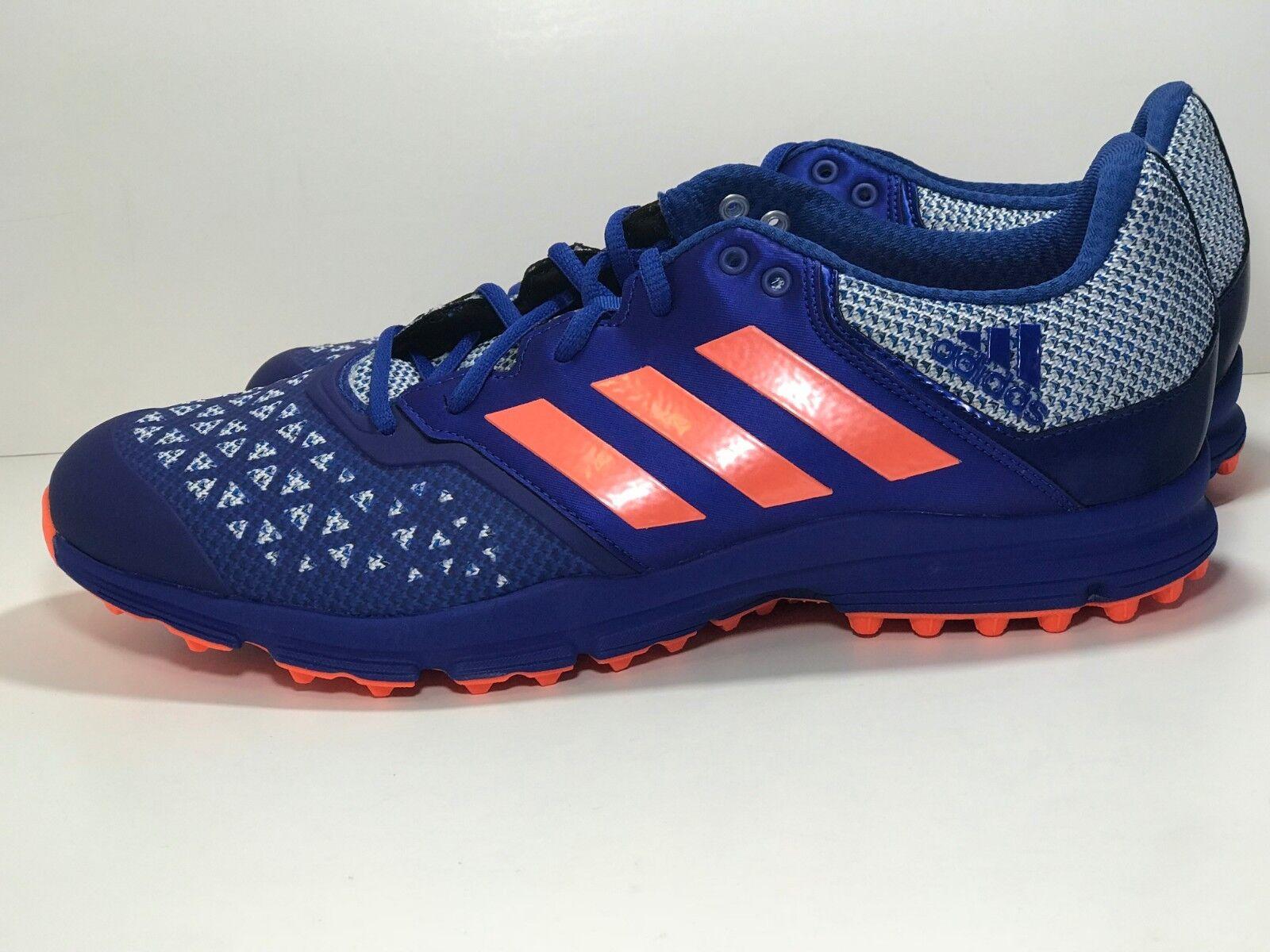Adidas Zone Dox Hockey shoes bluee orange Trainers Cleats AQ6520 Men's Size 12