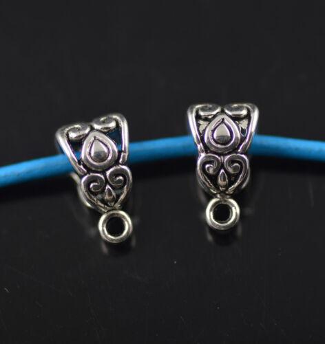 Wholesale 100Ps Bails Teardrop Connectors Holder Fermoir Fit 3 mm Collier Findings