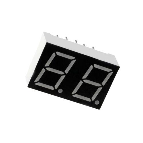 """4X OPD-D3911Y-BW Display LED 7-segmentig 10mm 0,39/"""" Anz.Z 2 gelb 8mcd Kathode"""
