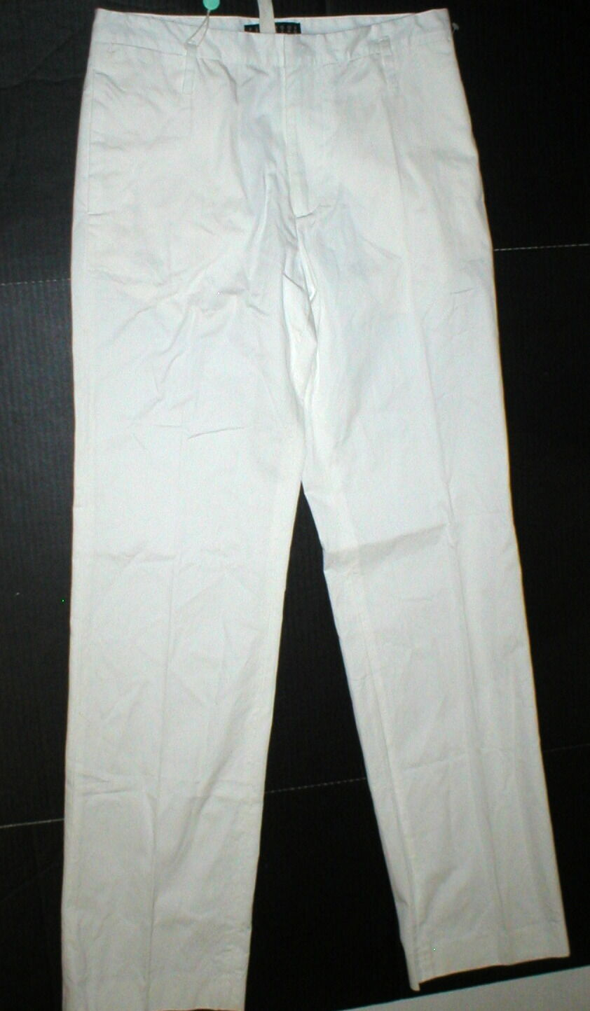 New Womens NWT  674 Designer Peachoo + Krejberg Ivory White Pants M France Tall
