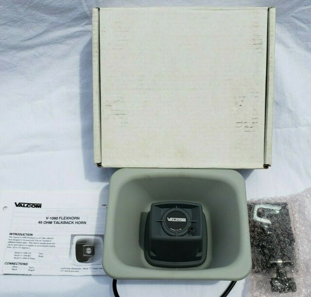 Valcom V-1090-GY Talkback FlexHorn with Mounting Bracket Gray Coaches' & Referees' Gear