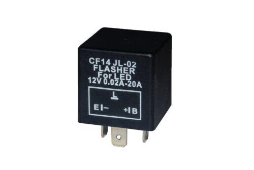 2X 3-Pin Universal LED Flasher Turn Signal Relay Car Motorcycle CF14 JL-02 12v