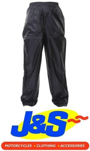 IXS CRAZY WATERPROOF OVER PANTS TROUSERS MOTORCYCLE MOTORBIKE TRS WP BLACK J/&S