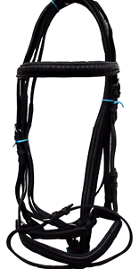 Black Bridle and Reins Set