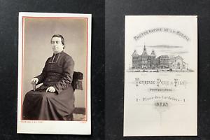 Terrisse-Lyon-Pretre-en-pose-circa-1870-vintage-cdv-albumen-print-CDV