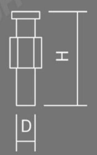 50 x Minax-Schraube messing vernickelt  H=32 mm Verdeckknopf Persenningknopf