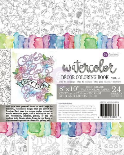 "Prima Marketing /""Watercolor Coloring Book Vol 4/"" 589783"