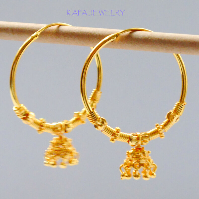 Gold Hoops Earrings Gold Plated Fashion Earrings Kapa Jewellry