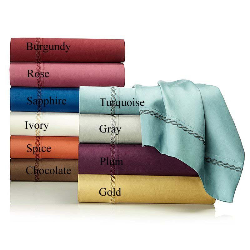 Highgate Manor Embroiderot 400 TC 100% Egyptian Cotton 4-piece Sheet Set - Full