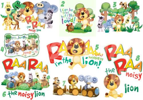 RAA RAA THE LION STICKER OR IRON T-SHIRT  TRANSFER HUFFTY TOPSY CROCKY LOT RA